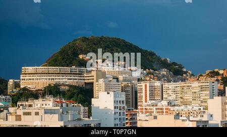 View of Cantagalo favela near Ipanema, Rio de Janeiro, Brazil. - Stock Image