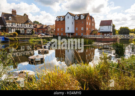 Abbey Mill, or Fletcher's Mill, on the Mill Avon at Tewkesbury. - Stock Image