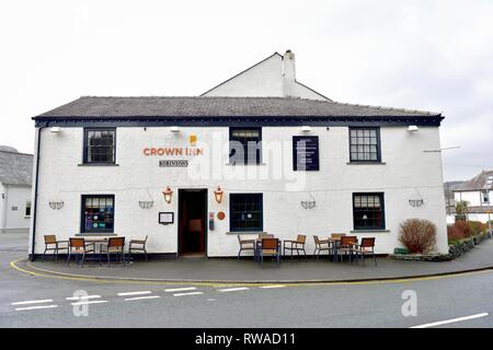 The Crown Inn,Coniston,Lake District,Cumbria,England,UK - Stock Image