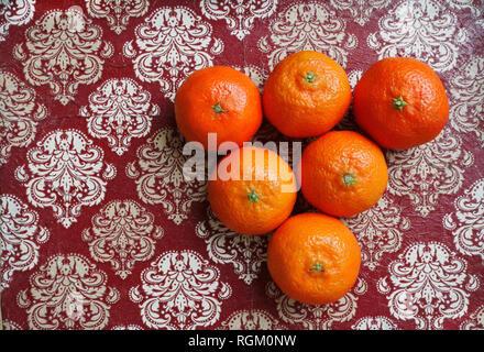 Ripe tangerines. France - Stock Image