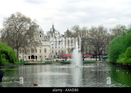 Old Admiralty Buildings, Whitehall, from St James Park, London, UK - Stock Image