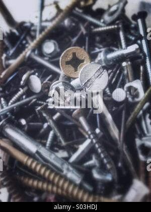 Nails and screws. - Stock Image