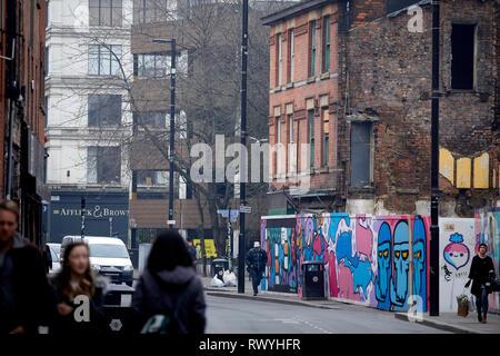Norther Quarter regeneration on Thomas Street - Stock Image