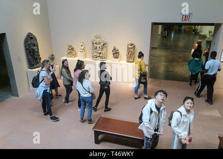 Asian Art at the Metropolitan Museum of Art in New York City, USA - Stock Image