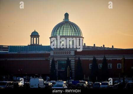 Sunrise at the Trafford Centre Dome - Stock Image