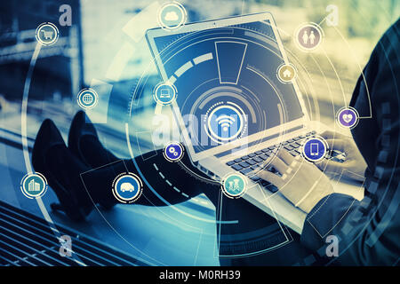 internet shopping concept. e-commerce. sell over the Internet. - Stock Image