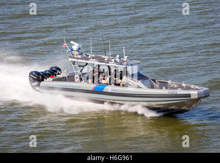 A Coastal Interceptor Vessel (CIV), a variant on SAFE 41 Center Console manufactured for the U.S. Customs and Border - Stock Image