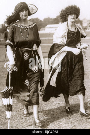 Two Ladies at the Races - Ascot. - Stock Image