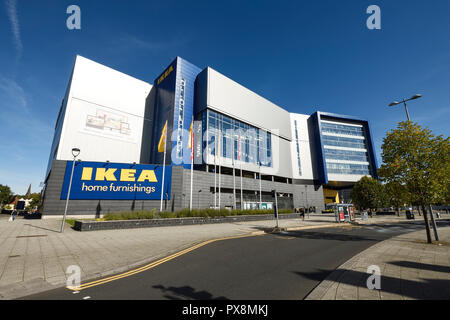 Exterior of the IKEA home furnishings store on Croft Road in Coventry city centre UK - Stock Image