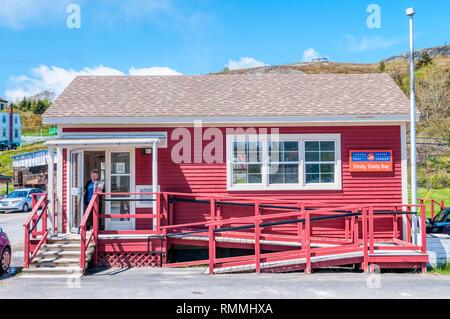 Canadian Post Office at Trinity, Newfoundland. - Stock Image