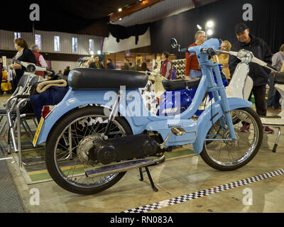 Motovespa Vespino. Most popular moped in Spain. Was made from 1968 to 1999. Retro Málaga 2019. Spain. - Stock Image
