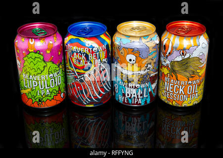 Beavertown IPA Beer Cans - Stock Image