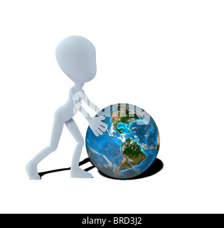 concept figure with globe - Stock Image