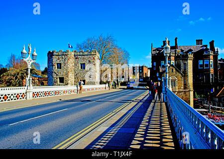 Lendal Bridge and Lendal Tower, York, England - Stock Image