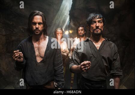 TOM RILEY EROS VLAHOS GREGG CHILLIN & BLAKE RITSON DA VINCI'S DEMONS : SEASON 2 (2014) - Stock Image