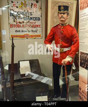 19th Century County Regiment, Essex Regiment Museum, Oaklands House, Chelmsford, Essex, UK - Stock Image