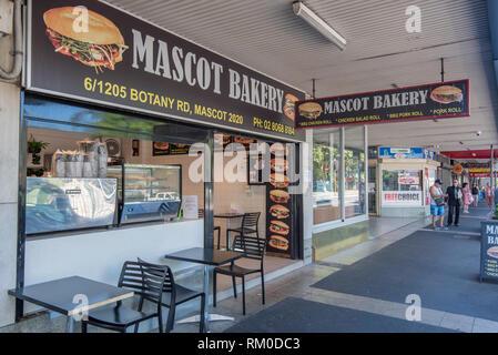 The Mascot Bakery in on Botany Road, Mascot, Sydney, Australia - Stock Image