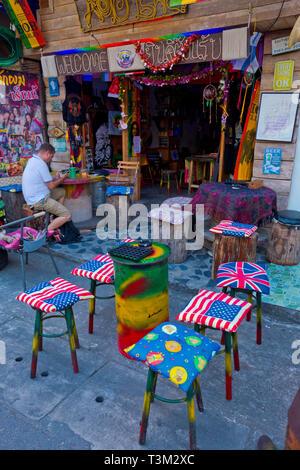 Bar terrace, Krabi town, Thailand - Stock Image