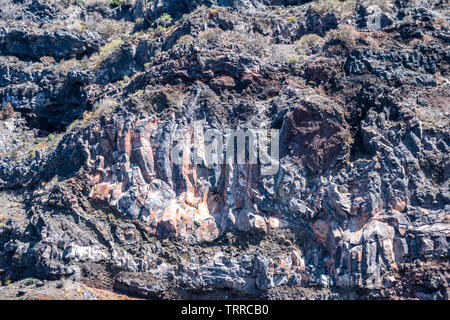 Geological volcanic landscape of La Palma, Canary Islands, Spain - Stock Image