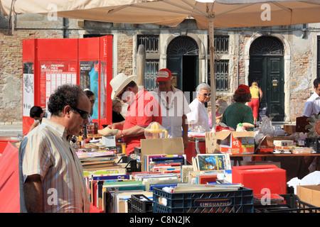 Flea market in Venice, Italy - Stock Image