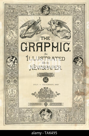 frontispiece title page of the Graphic Illustrated Newspaper, Vol, 66, Juy to dsecember 1902 - Stock Image