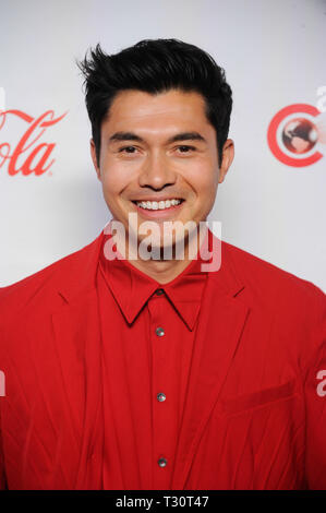Las Vegas, USA. 04th Apr, 2019. Actor Henry Golding arrives for the 2019 CinemaCon Big Screen Achievement Awards at Omia nightclub at Caesars Palace in Las Vegas on April 4, 2019. Credit: The Photo Access/Alamy Live News - Stock Image