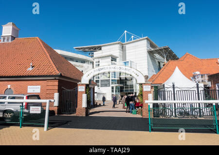 Entrance to Rowley Mile racecourse Newmarket 2019 - Stock Image