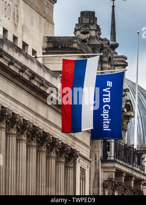 VTB Capital - Russian Investment Bank office in Cornhill in the City of London, London's financial district - Stock Image