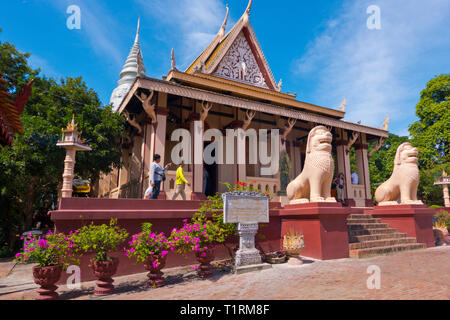 Mountain Pagoda, Wat Phnom, Phnom Penh, Cambodia, Asia - Stock Image