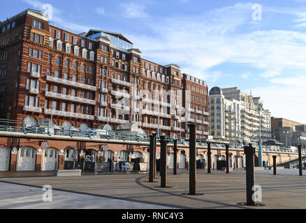 The Hilton Metropole Hotel next door to Grand Hotel on Brighton seafront UK  Photograph taken by Simon Dack - Stock Image