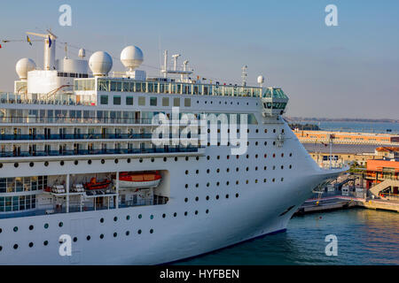 Costa Victoria cruise ship docked in Dubrovnic, Croatia - Stock Image