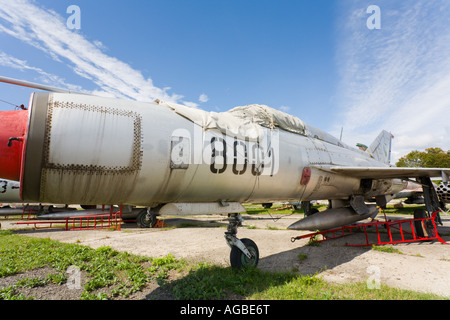 Mikoyan-Gurevich MiG-21PFM '8001' of ex Czech Air Force, Vyskov base near Brno¸in Czech Republic - Stock Image