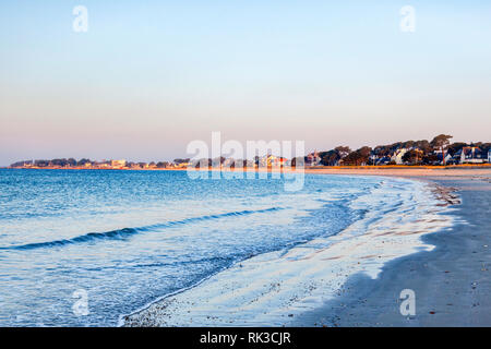 The beach at Carnac, Brittany, France. - Stock Image