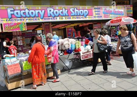 Factory Rock Shop, Lumley Road, Skegness, Lincolnshire, England, UK - Stock Image