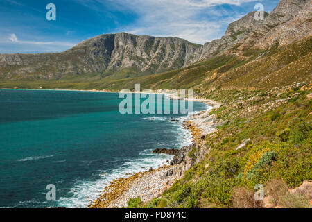 Coastal landscape of the Kogelberg Biosphere Reserve near Cape Town, South Africa. - Stock Image