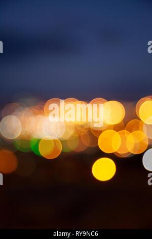 Bokeh City Lights - Stock Image