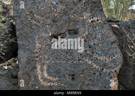 Petroglyphs at Rinconada Canyon, Petroglyph National Monument, Albuquerque, New Mexico, USA - Stock Image