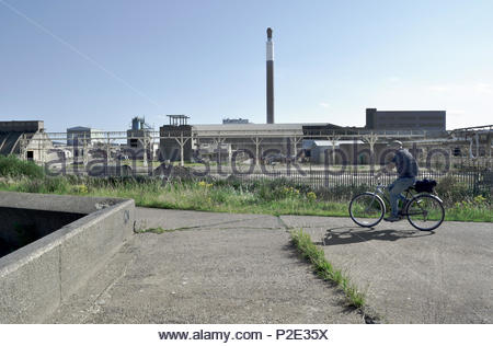 Huntsman Tioxide chemical plant in Grimsbey after closure, North Lincolnshire, UK - Stock Image