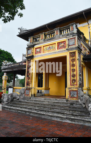 The Tinh Minh Building in the Dien Tho Residence complex in the Imperial City, Hue, Vietnam - Stock Image