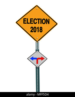 conceptual sign election 2018 left or right - Stock Image