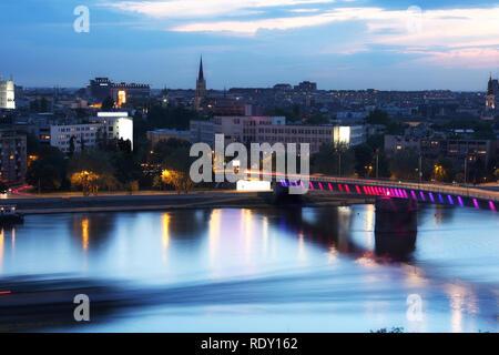 view of panorama Novi Sad, Serbia, from Petrovaradin Fortress - Stock Image