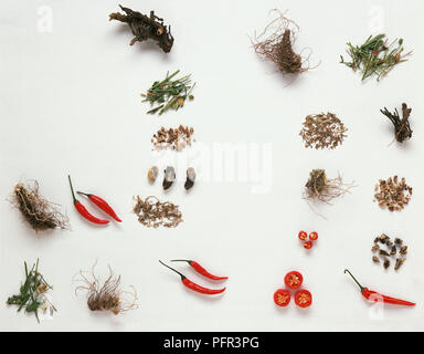 A Collection of Native American Herbs - Stock Image