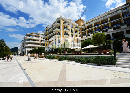 Luxury residential complexes in Porto Montenegro in TIvat. - Stock Image