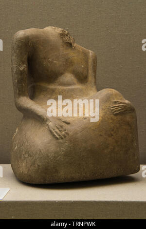 Headless Male Sculpture in Stone. 2500 BC -1800 BC. Mohenjo - daro, Pakistan. Department of Archaeology and Museums - Stock Image
