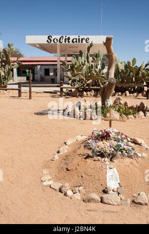 Africa, Namibia, Solitaire, Solitaire Country Lodge. Gravesite outside lodge. Credit as: Wendy Kaveney / Jaynes - Stock Image