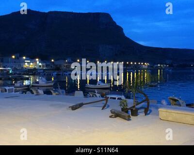 Evening resort landscape - Stock Image