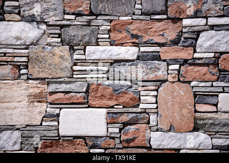 part of a stone wall - Stock Image