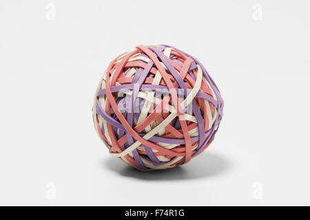Ball of Elastic Bands - Stock Image