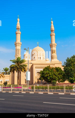 Jumeirah Mosque is a main mosque in Dubai city in UAE - Stock Image