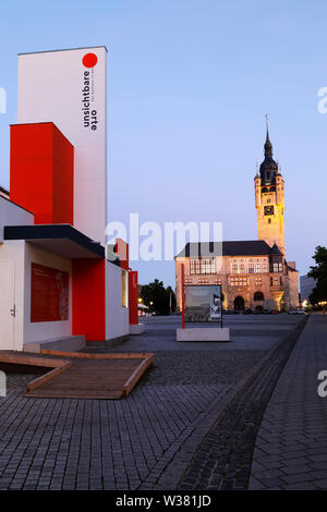 Bauhaus pavilion at Dessau, in Saxony Anhalt, Germany. The pavilion has information about the school of art and design and where to see its legacy in - Stock Image